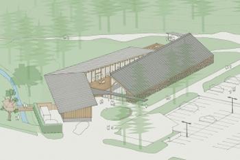 事業提案型コンペで最優秀となった『山の駅飯綱高原』が着工となりました。